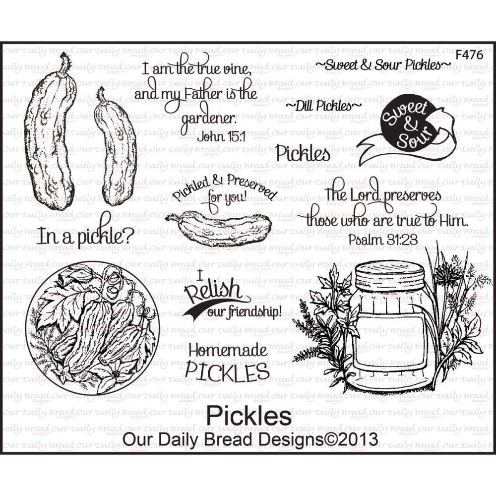ShopForAllYou Stamping & Embossing Pickles Cling Stamp Collection Our Daily Bread New Summer Garden Canning Picnic