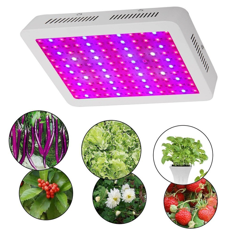 BHao 600W Double Chips Led Grow Light Full Spectrum with UV and IR for Greenhouse and Indoor Plant Flowering Growing (600W)