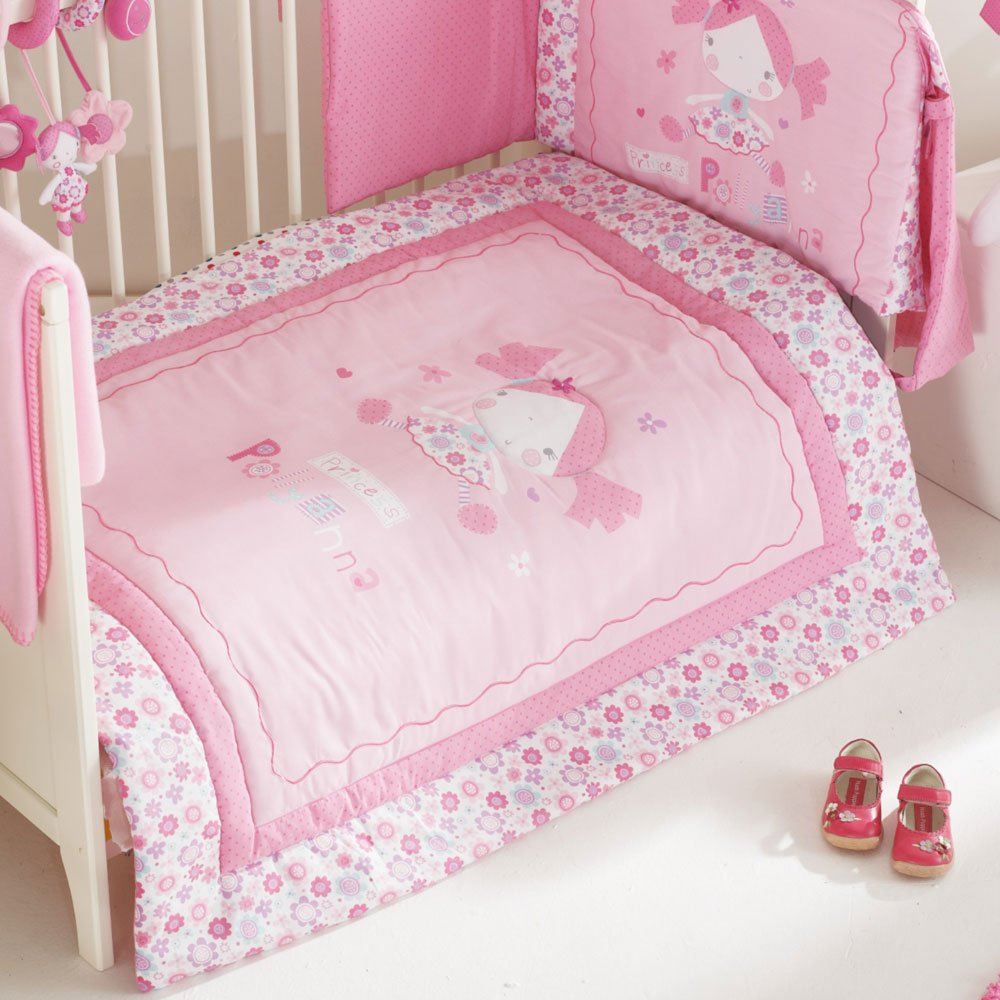 Gentil Red Kite Princess Pollyanna Cosi Cot 5 Piece Bedding Set Pink NEW DESIGN:  Amazon.co.uk: Baby