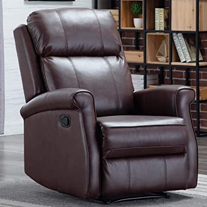 CANMOV Manual Leather Recliner Chair, Classic and