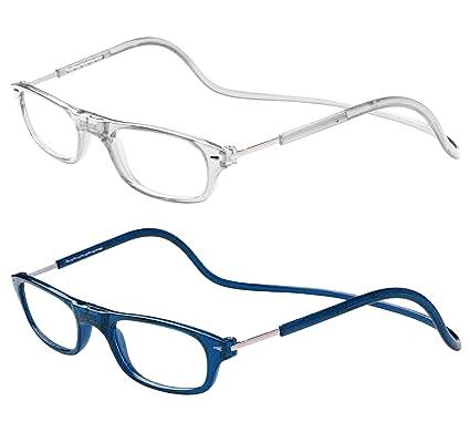 Occhiali Pieghevoli Occhiali da Lettura per Presbiopia - lente vista da lettura (+2,5 blu)