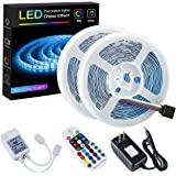 SPARKE LED Strip Lights Sync to Music Non-Waterproof 32.8ft(10M) 300LEDs Flexible RGB 12V SMD5050 LED Tape Light with RF…