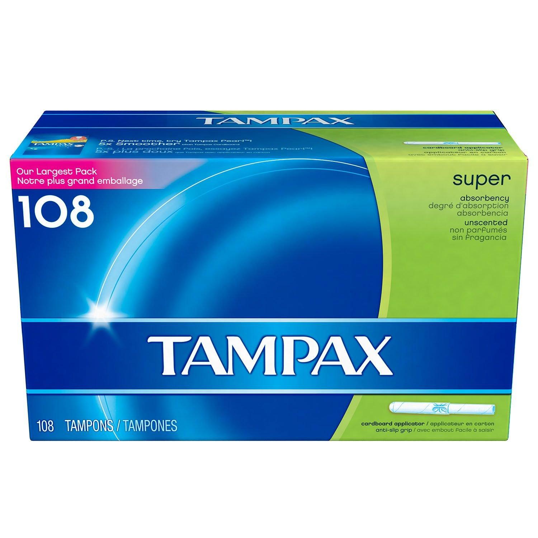 Tampax Super Tampon (108 ct.) (pack of 6)
