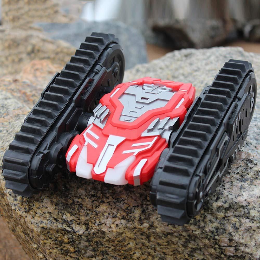 Tletiy Stunt Car 2.4Ghz voiture t/él/écommand/ée haute vitesse RC voiture double face Tumbling 360 /° Rotating Flips /électriques hors route de course V/éhicules sur chenilles avec LED Phares cadeau for les