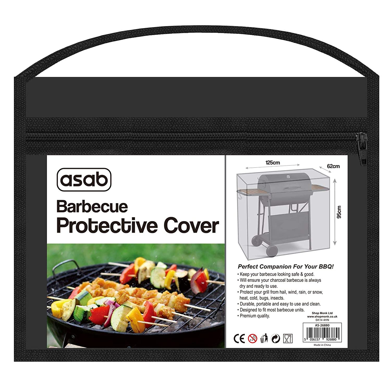 ASAB Heavy Duty Waterproof Protector For Barbecue Charcoal Grill | Universal BBQ Outdoor Garden Storage Cover