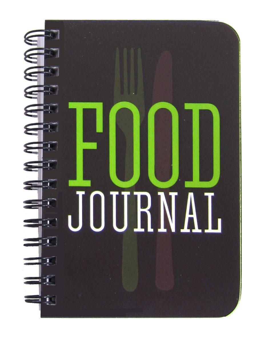 Bookfactory Journal/agenda/carnet de régime alimentaire, 120pages–8,9 x 13,3cm (format de poche), durable, couverture transparente épaisse de haute qualité, reliure à spirale (JOU-120-M3CW-A (Nourriture)) 120pages-8 JOU-120-M3CW-A (Food)