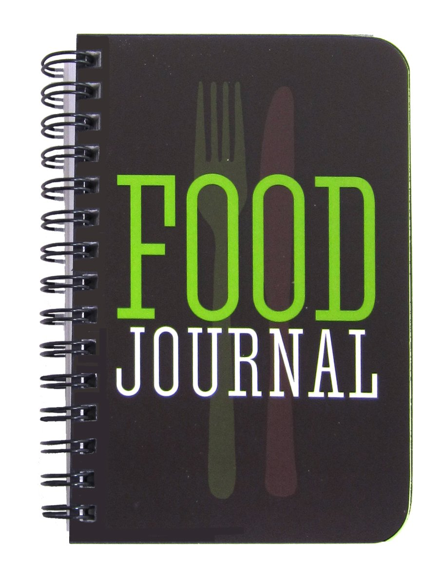 BookFactory Food Journal/Food Diary Logbook/Diet Journal Notebook/Book, 120 Pages - 3 1/2 x 5 1/4'' (Pocket Sized), Durable Thick Translucent Cover, Wire-O Binding (JOU-120-M3CW-A (Food))