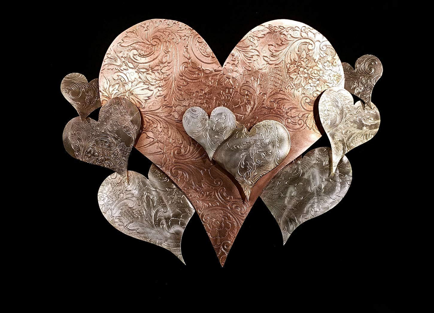 Metal Wall Art Heart Cloud 1575e *SAVE 15 SEE BELOW* Steampunk Industrial Vintage Housewarming Wedding Birthday Valentine's Mother's Day Christma