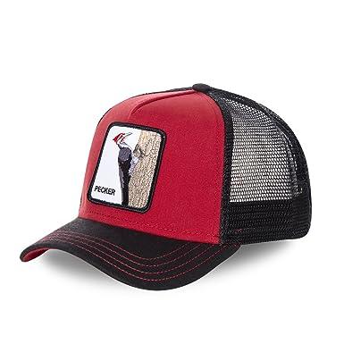 dernières tendances vente moins chère expédition gratuite Goorin Bros Casquette Casquette Pecker - Noir/Rouge - Taille TU (Taille  Unique)