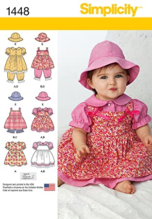 Simplicity Schnittmuster Kleid, 1488 Babies\'&Zubehör Größen: XS-L ...