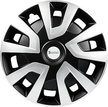 Michelin 92020 Radzierblenden Denise Für Transporter Van Und Wohnmobile 4 Teilig 38 1 Cm Reflektorsystem N V S Silber Schwarz 4 Er Set 15 Zoll Auto