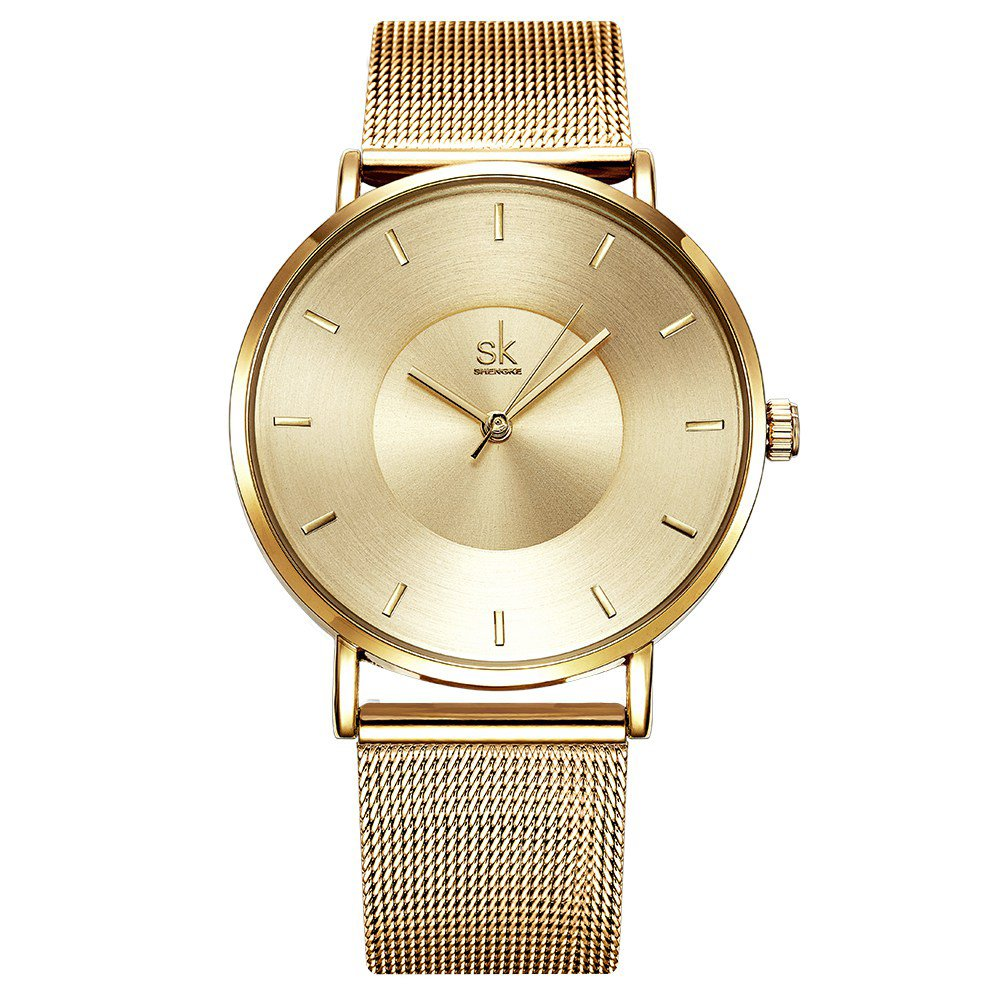 Amazon.com: Women Simple Mesh Bracelet Watch Girl Stainless Steel Band Analog Watches (59 Gold): Watches