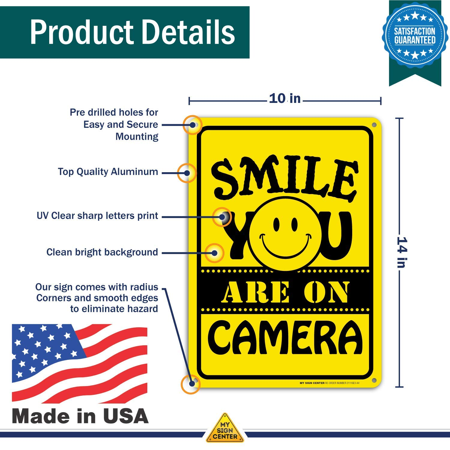 Amazon.com: Señal de la cámara Smile Youre On para ...