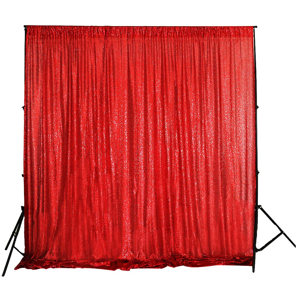 TRLYC 20Ft10Ft Sequin Backdrop Fabric Red Sequin Backdrop for Wedding Fabric by TRLYC
