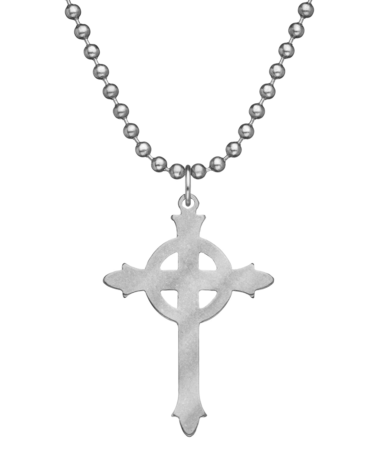 Military Issue PRESBYTERIAN CROSS With Beaded Chain - 24""