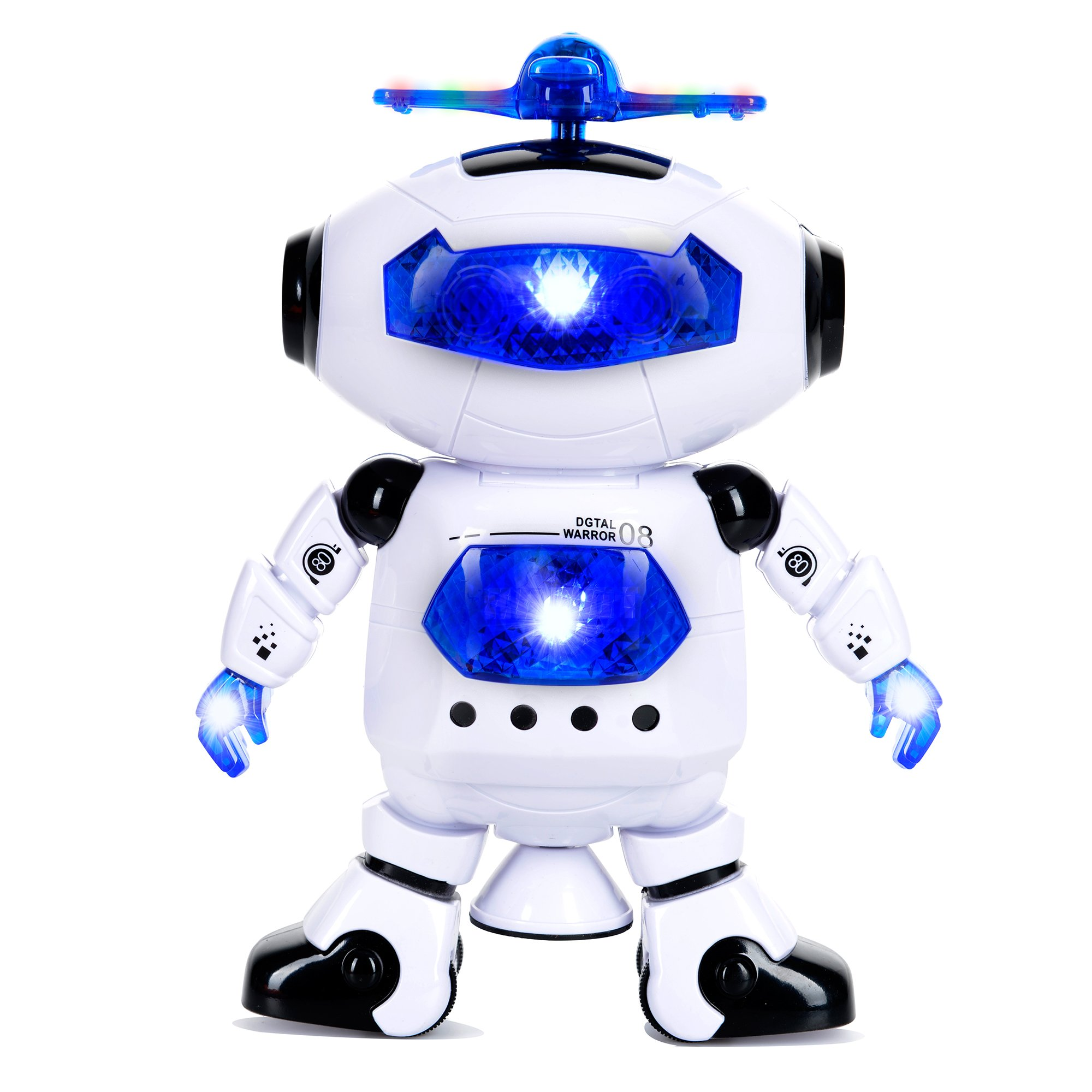 Toysery Electronic Walking Dancing Robot Toys With Music Lightening For Kids Boys Girls Toddlers, Battery Operated Included by  Toysery (Image #6)