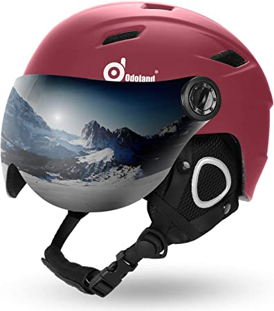 Odoland Ski Helmet with Ski Goggles Light Weight Snowboard Helmet and Goggles Set for Men Women Youth and Kids