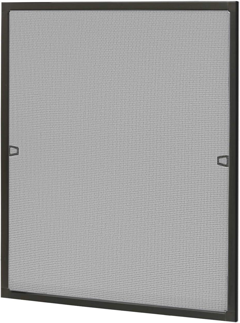 Fliegenschutzgitter M/ückengitter ohne Bohren und Schrauben UISEBRT Insektenschutz Fliegengitter Fenster mit Alurahmen 100/×120cm Wei/ß