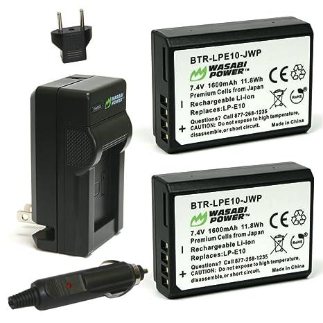 Wasabi energía de la batería y cargador para Canon LP-E10 ...