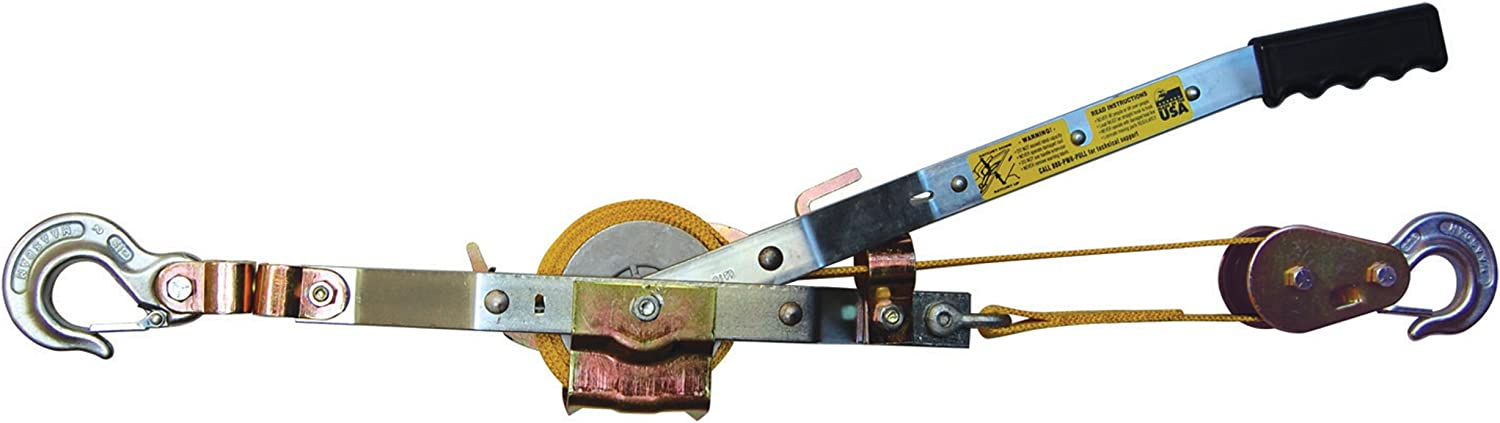 Ratchet Rope Puller Power Strap Puller for Lifting Pulling, Industrial Supplies