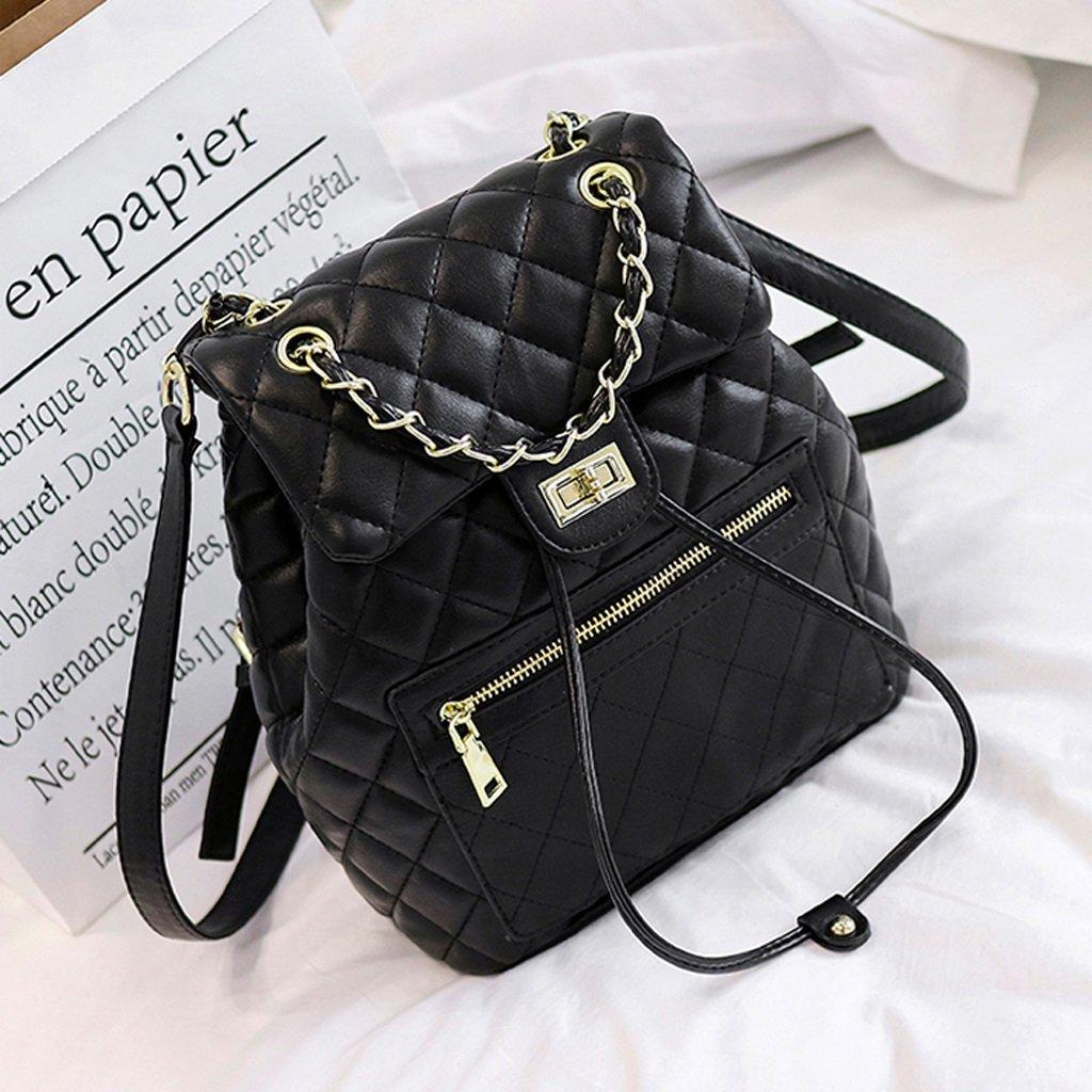 C/&Q CQ Multifunction Shoulder Bag Womens Korean Version Fashion Soft Leather Mini Backpack