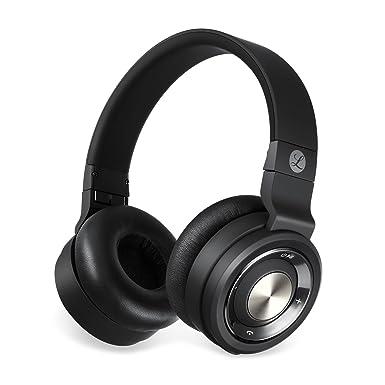 tranya estéreo auriculares inalámbricos con micrófono de diadema plegable auriculares de música portátil para teléfonos móviles