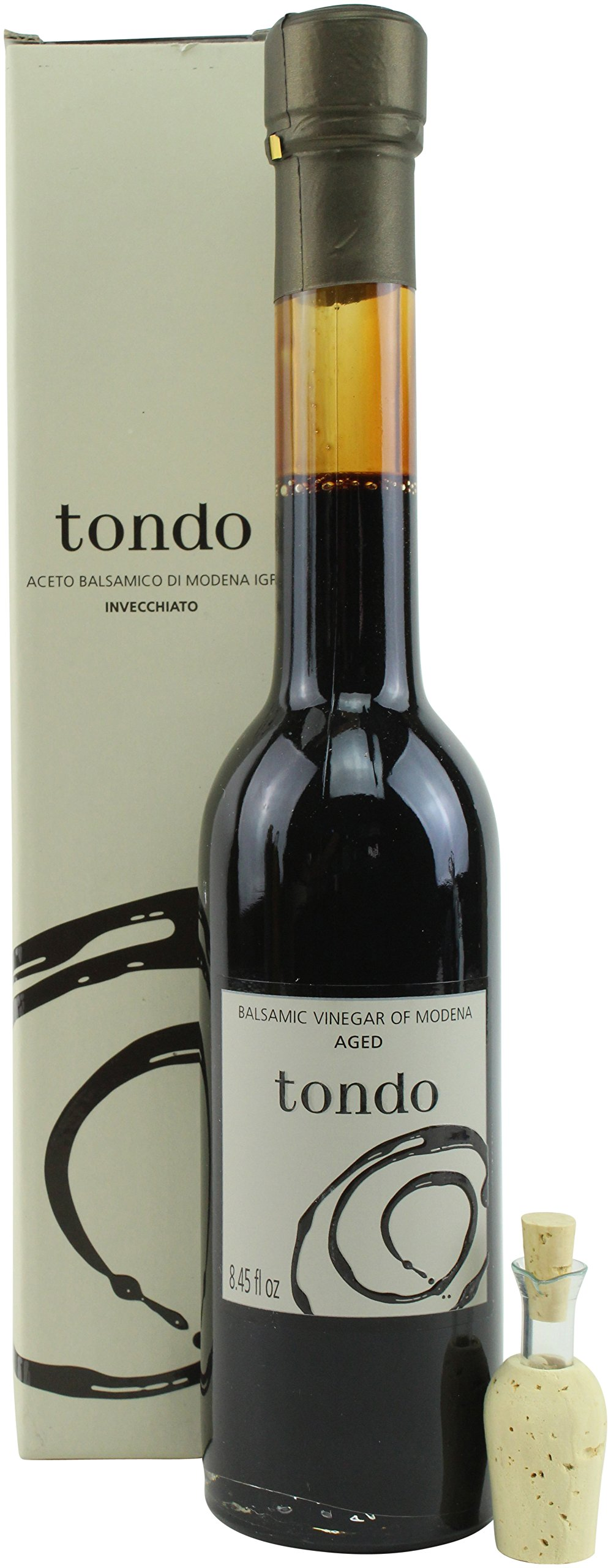Tondo Invecchiato Aged Balsamic Vinegar from Modena IGP, 8.45 ounce
