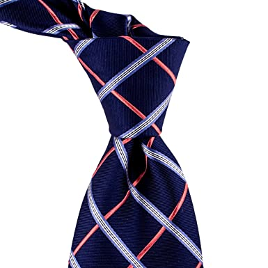 aa68c522a613 Image Unavailable. Image not available for. Colour: Blue and Coral Plaid  Check Tie ...