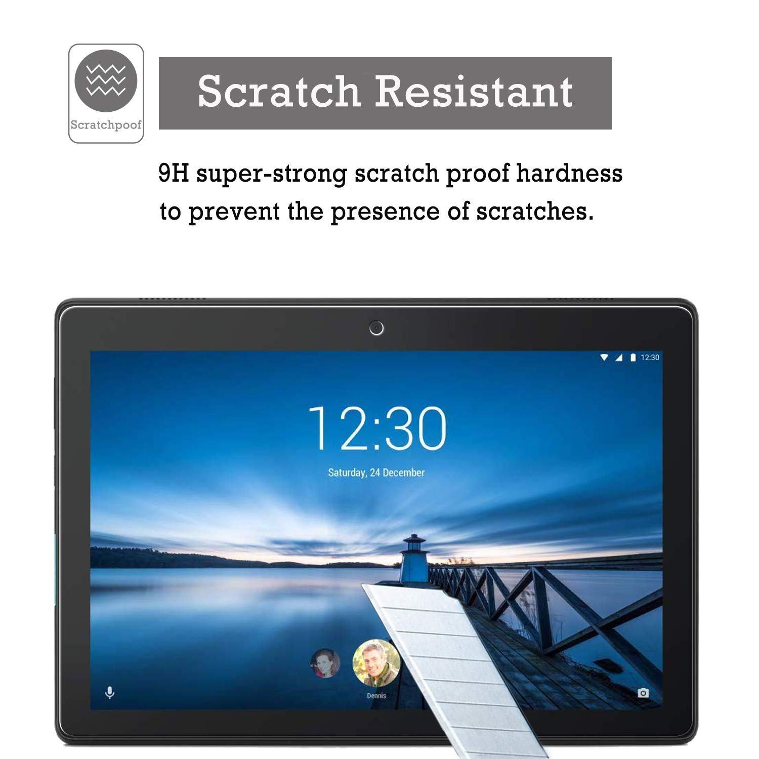 Lenovo Tab E10 Screen Protector Glass KTTWO 9H Hardness Tempered Glass Anti-Scratch Bubble-Free Screen Protector for Lenovo Tab E10 TB-X104F Tablet 2 Pack