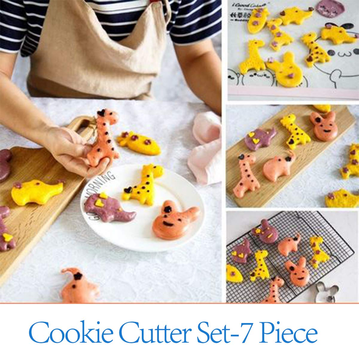 Cookie Cutters Set - Cookie Cutters Mini Geometric Shapes Cookie Cutters, Vegetable Shape Cutters for Kitchen, Baking, Halloween & Christmas,12 Pcs (Animal) 51mHAfVmqLL