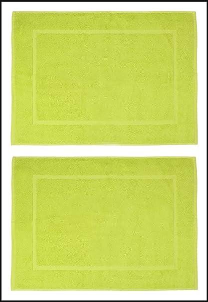 Casa Basics 700 GSM Quick Dry Premium 2 Pcs Bath Mat Set- Green