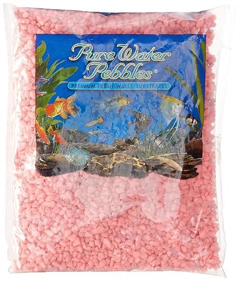 Agua Pura Pebbles Acuario Grava, 2-Pound, neón Rosa