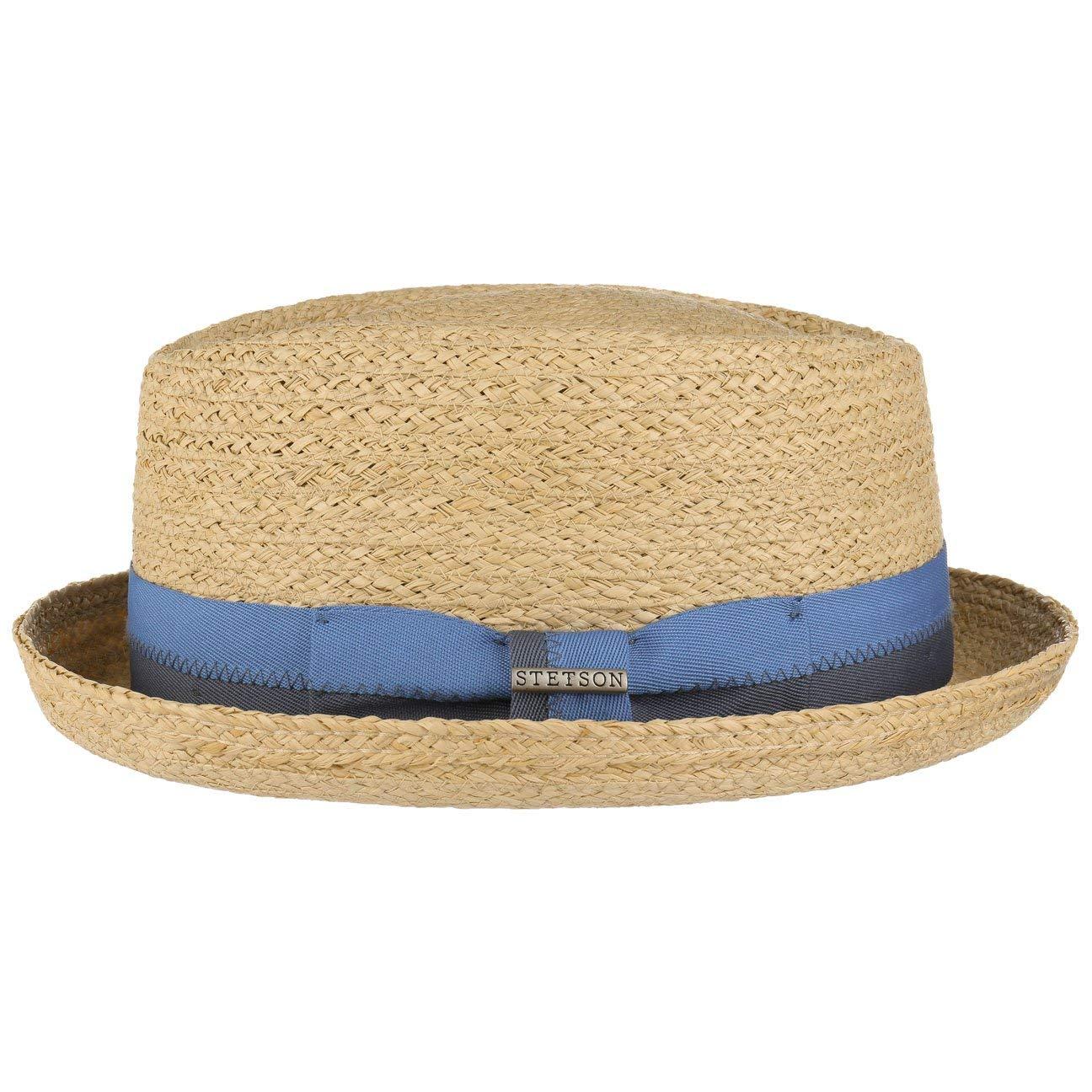 Cappelli da Spiaggia Sole Fedora con Nastro in Grosgrain Primavera//Estate Stetson Cappello Rafia Laverne Diamond Uomo