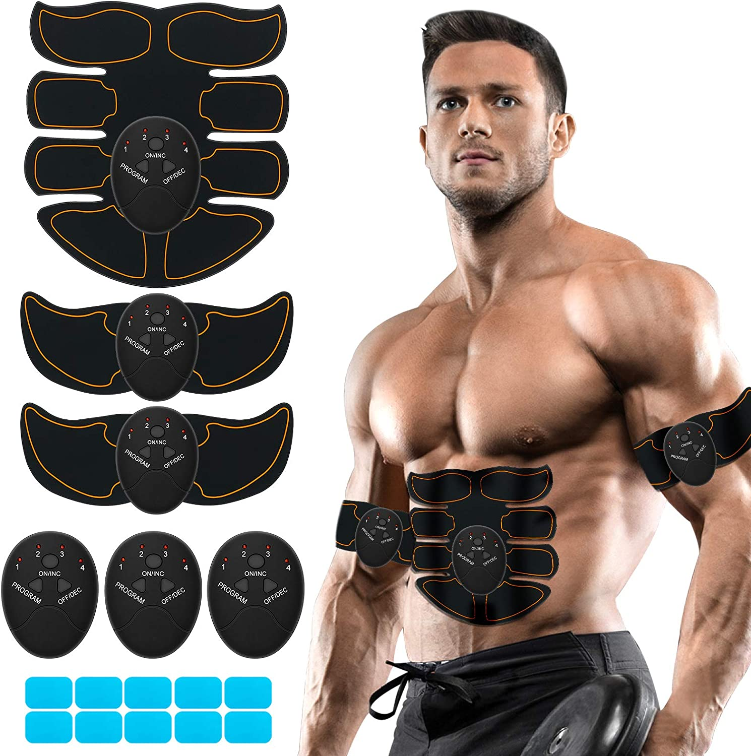 ABS Simulator Belt Muscle Trainer Abdominal TONING EMS Fitness Hip Training