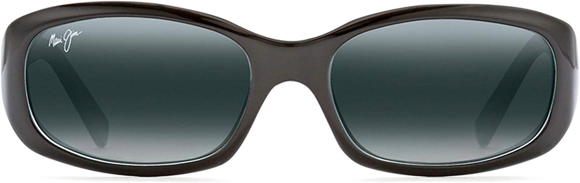 f61f1180e166 Amazon.com: Maui Jim Sunglasses | Women's | Punchbowl 219-03 | Black & Blue  Rectangular Frame, Polarized Neutral Grey Lenses, with Patented  PolarizedPlus2 ...