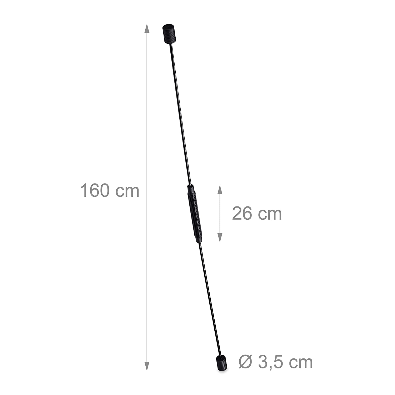 Schwungsstab f/ür Vibrationstraining flexibler Schwingstab 2x Swingstick 160 cm Toning Bar f/ür Muskulatur schwarz