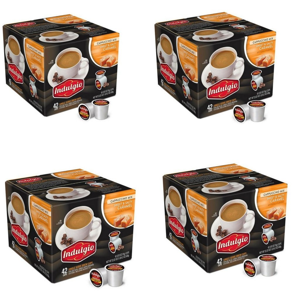 Indulgio Cappuccino Sweet and Salty Caramel, 42 Count (4)