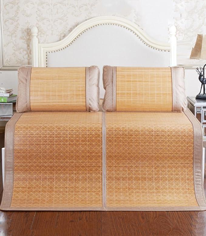 Utilisation double face tapis de lit --- Tapis de bambou recto-verso Tapis de lit de 1,8 m sièges en rotin 1,5 m lit double Séjour étudiant Tapis d'été / feutre en bambou --- tapis de lit pl