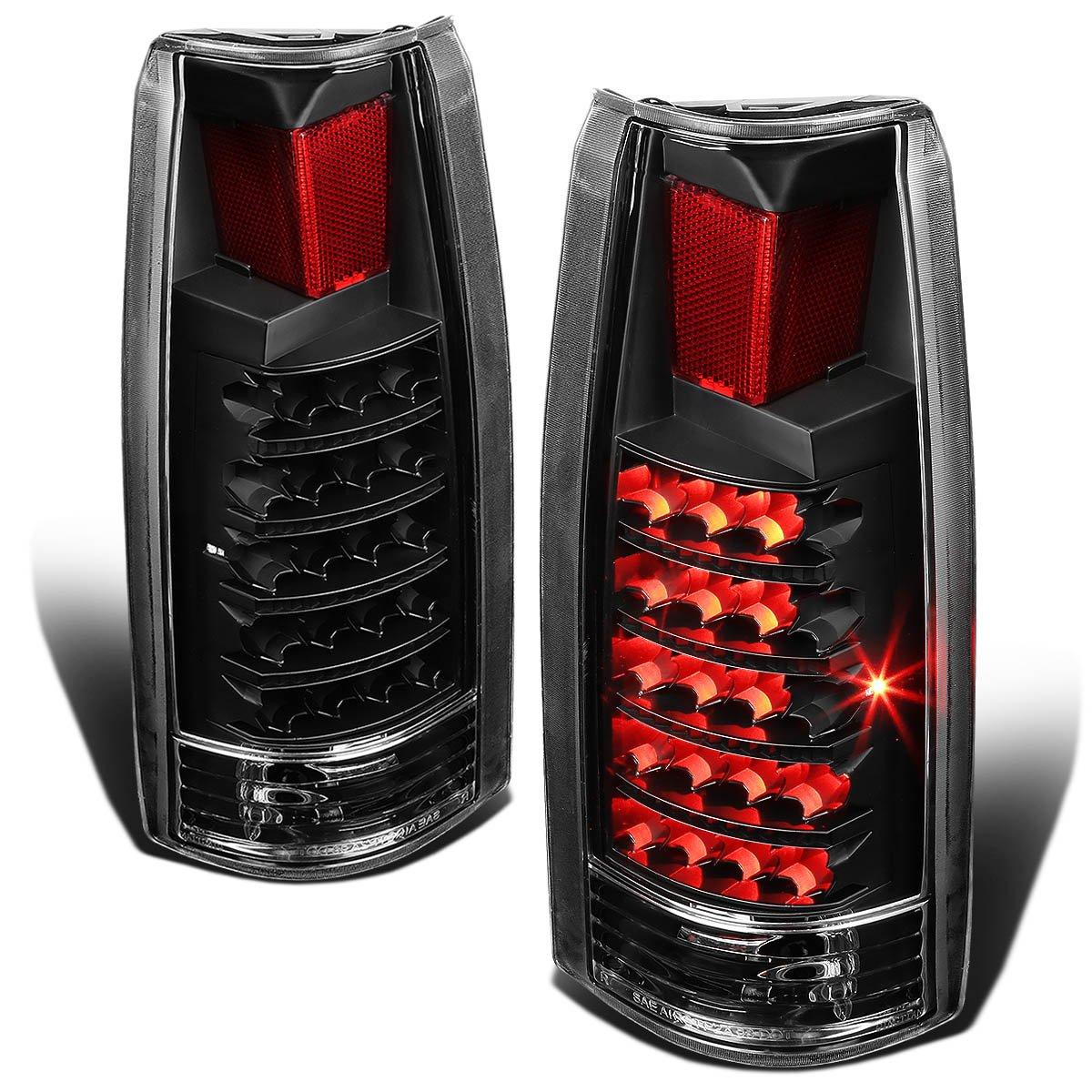 DNA TL-C10-LED-BK-CL Chevy C/K Series Black Clear Lens LED Tail Light DNA MOTORING