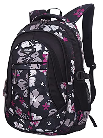 SellerFun® Kid Child Girl Flower Printed Waterproof Backpack ...