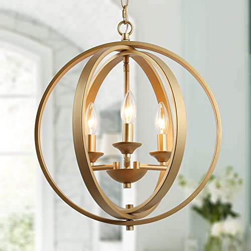 KSANA Gold Orb Chandelier