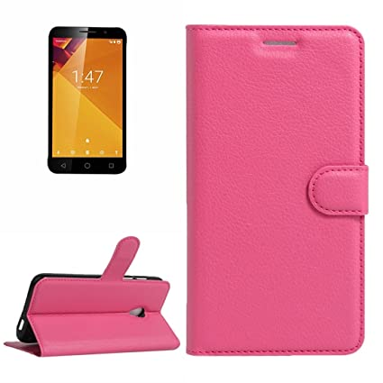 LHPING For Vodafone Smart Turbo 7 Solid Color Litchi Texture Horizontal Flip Leather Case Cover with