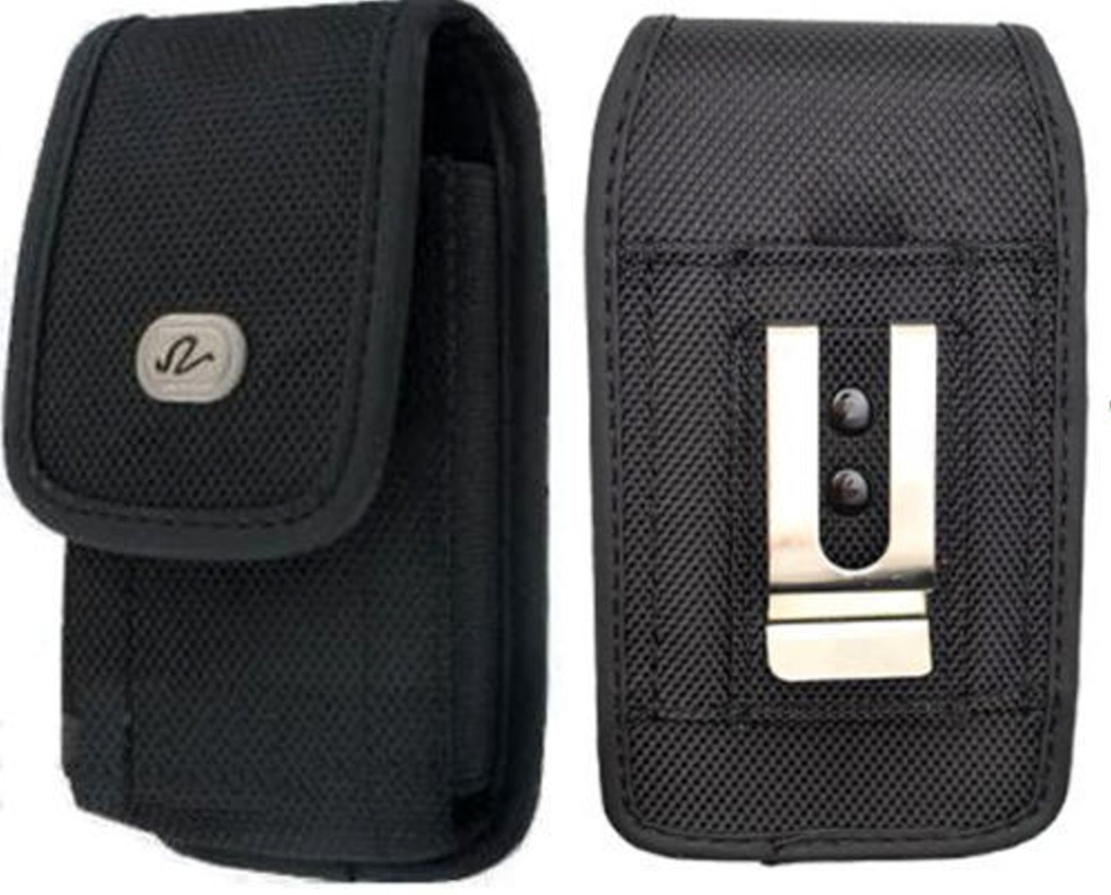 LG Lancet for Android Vertical Heavy Duty Case Holster Pouch Canvas Rugged Velcro Closure Belt Clip + Belt Loop [Fits Phone with Mophie Juice Pack/Otterbox/Extended Battery/Commuter On It]