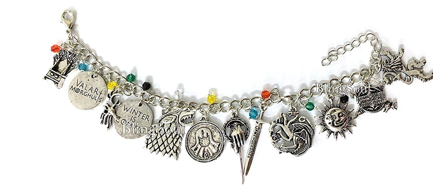 Game of Thrones Jewelry Merchandise Gift Bracelet - GOT Winter is Coming Christmas Best Holiday