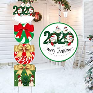 Candy Outdoor Christmas Decorations 47 Inch Xmas Holiday Yard Sign Christmas Outside Decor for Front Back Garden Patio Lawn 04