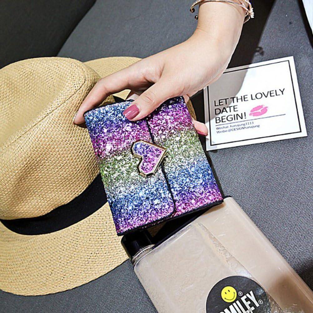 Fashion Sparkly Sequin Purse Bag Lady Party Handbag Evening Bling Wallet Case Bag for Women Girls Heart Lock Design