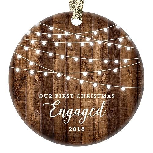 Amazon.com: Engagement Keepsake <b>Gifts 2018</b>, First <b>Christmas</b> ...