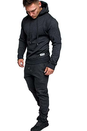 beste website 916b6 b65bb REPUBLIX Herren Cargo Stil Sportanzug Jogginganzug Trainingsanzug  Sporthose+Hoodie R-0028