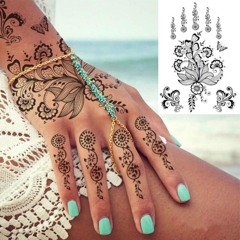 tzxdbh 3Pcs-Nueva Etiqueta engomada Negra del Tatuaje de la ...