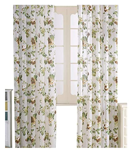 elegant window treatments dining room aside bside countryside design floral printed sheer curtains rod pocket top drapes elegant window treatments for amazoncom